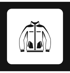Mens winter jacket icon simple style vector image