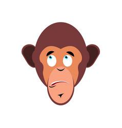 Monkey surprised emoji marmoset astonished vector