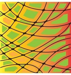 Multicolor orange and green geometric graphic vector