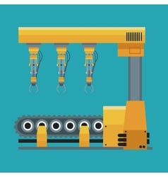 robotic production line machinery technology vector image vector image
