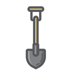shovel filled outline icon build and agricultural vector image vector image