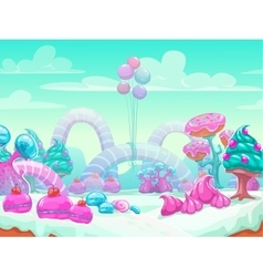Sweet world cartoon vector