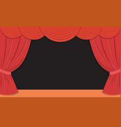 theater stage with red curtains vector image vector image
