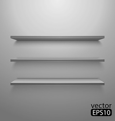Three shelves on the wall vector image