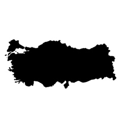Turkey map on a white background vector image vector image