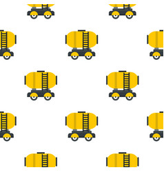 Waggon storage tank with oil pattern flat vector
