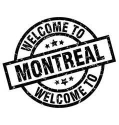 Welcome to montreal black stamp vector