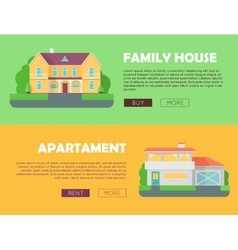 Family house concept modern apartment concept vector