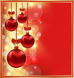 Holiday christmas balls vector