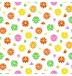 Colorful fruit pattern - seamless vector