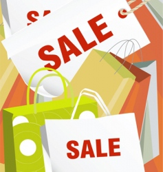 shopping cluster vector image