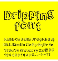 Abstract dripping font vector image