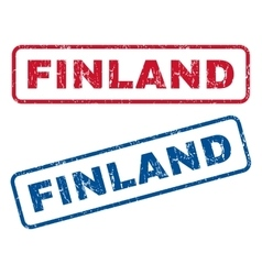 Finland rubber stamps vector