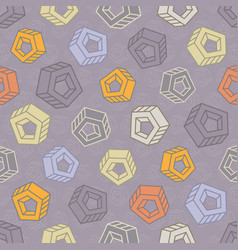 Seamless pattern with abstract multicolored screw vector