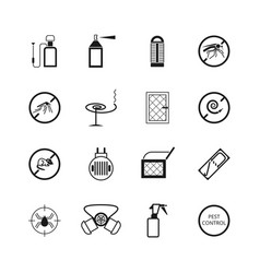Insects and pest control pictograms vector