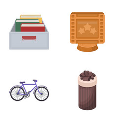 education sports and other web icon in cartoon vector image