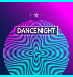 Disco dance art design poster with abstract vector