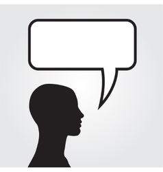 Clipart of man with speech bubble vector image