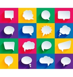 Speech bubbles in flat style vector