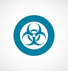 Bio hazard icon bold blue circle border vector
