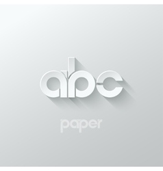 Letter a b c logo alphabet icon paper set vector