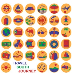 Icons journey vector