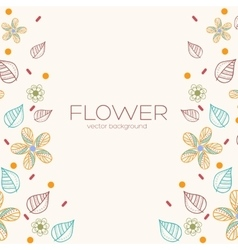 Decor flower template concept icons design for vector