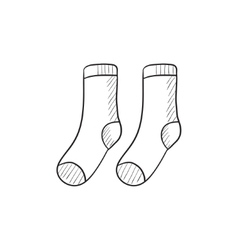 Socks sketch icon vector