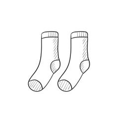 Socks sketch icon vector image