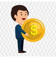 Money coin isolated icon design vector