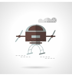 Air drone flat color icon vector