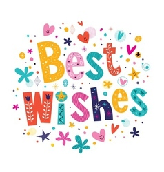 Best wishes 2 vector