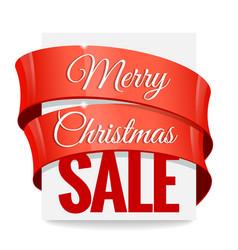 Big christmas sale label vector