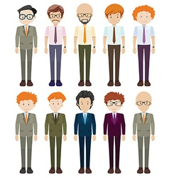Businessmen in formal clothes vector