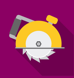 Circular saw icon in flate style isolated on white vector