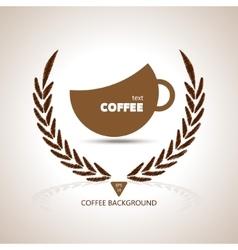 Coffee cup shape cafe menu coffee house menu vector image vector image