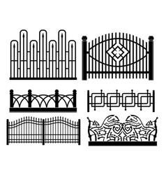 forged metal fences vector image vector image