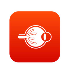 human eyeball icon digital red vector image vector image