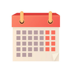 Isolated calendar icon flat vector