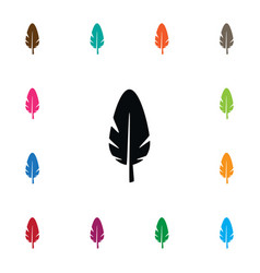 Isolated plume icon nib element can be vector
