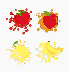 lemon tomato apple vector image