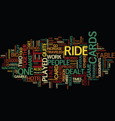 let it ride text background word cloud concept vector image vector image