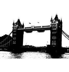 london bridge grunge vector image