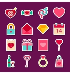 Love valentine day stickers vector