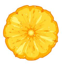 one pineapple slice vector image
