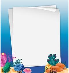 Paper design with underwater scene vector image vector image