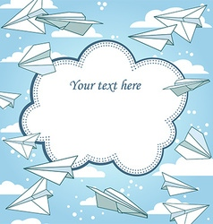 Paper planes frame vector image vector image