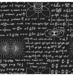 Physical seamless pattern on blackboard vector