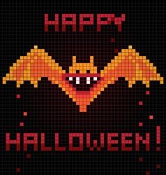 pixel halloween bat vector image