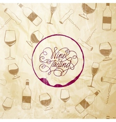 Red wine drops over text paper background vector